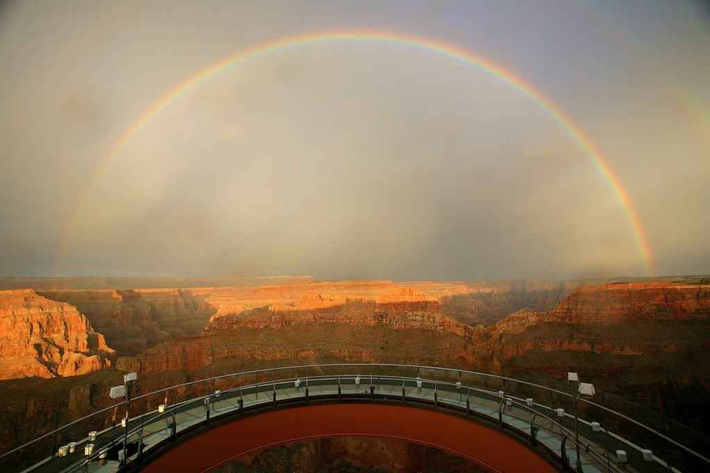 grand Cayon skywalk rainbow
