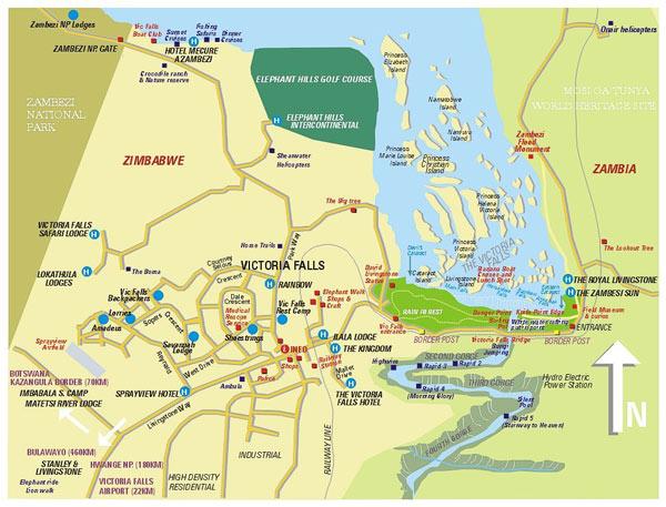 map victoria falls