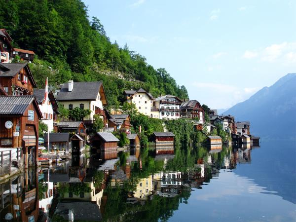 Austria beautiful lake town