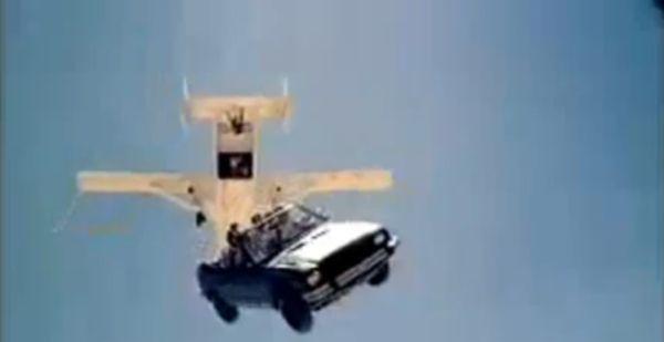 car sky diving