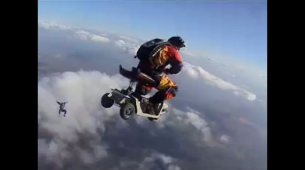 scooter skydiving