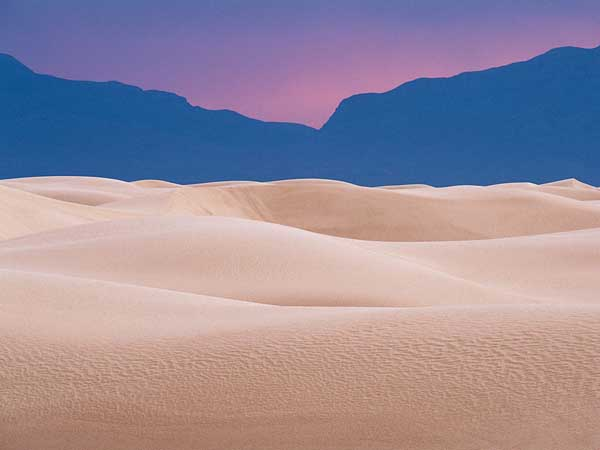 white sands new mexico twilight