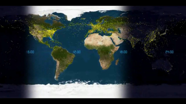 24 hours civil airline traffic tourism oon the edge