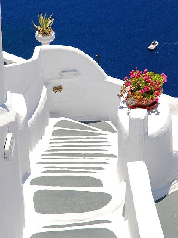 stairs santorini