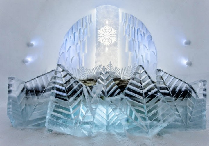 Ice Hotel lovely ice sculptures