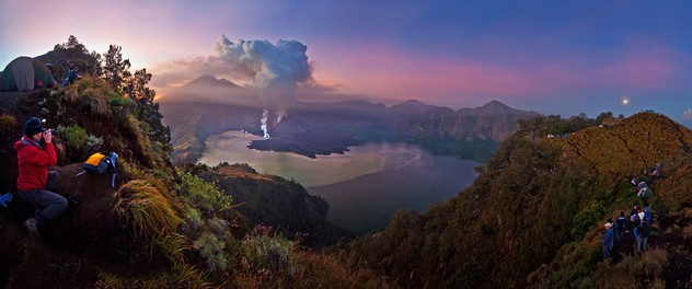 Eruption of Gunung Rinjani