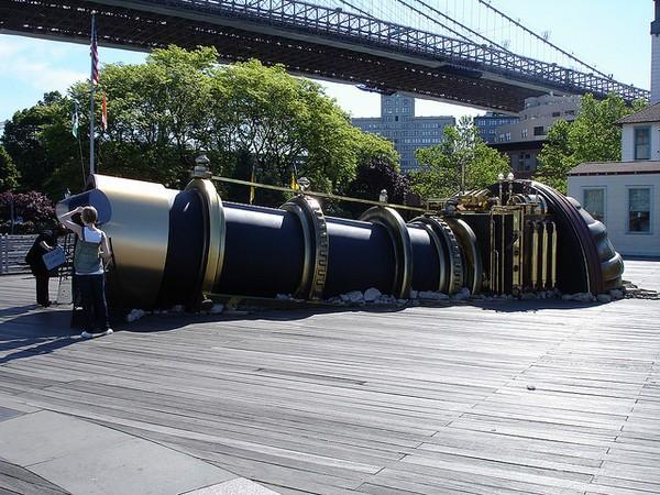 giant telescope like tunnel New York London