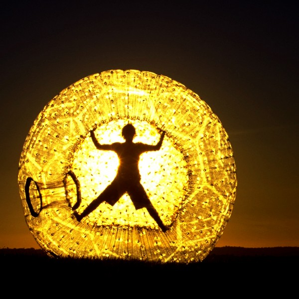 zorbing in the dark
