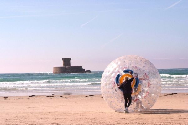 zorbing on the beach