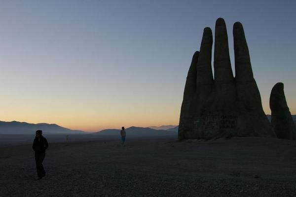 Giant Hand Atacama amazing art