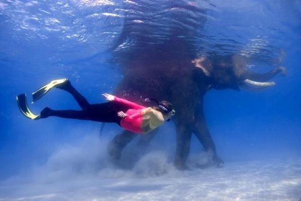 Snorkeling with Rajan