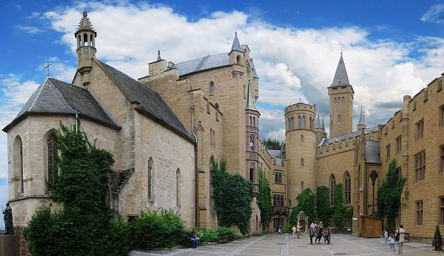 Hozenzollern inner courtyard castle