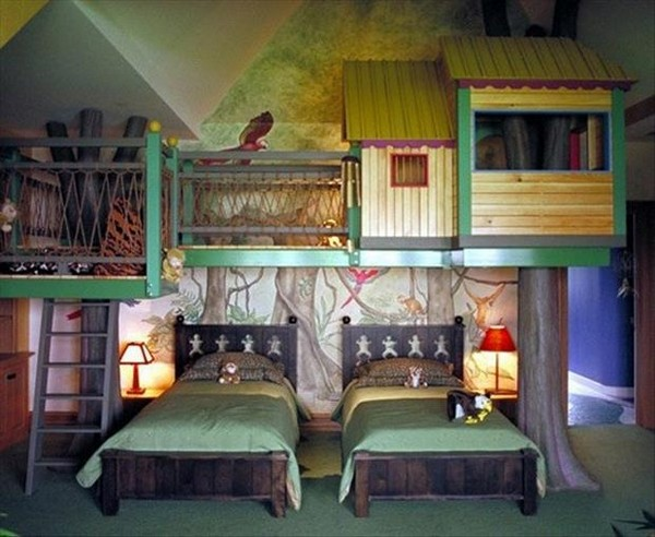 awesome kids bedrooms tree house room tourism on the edge