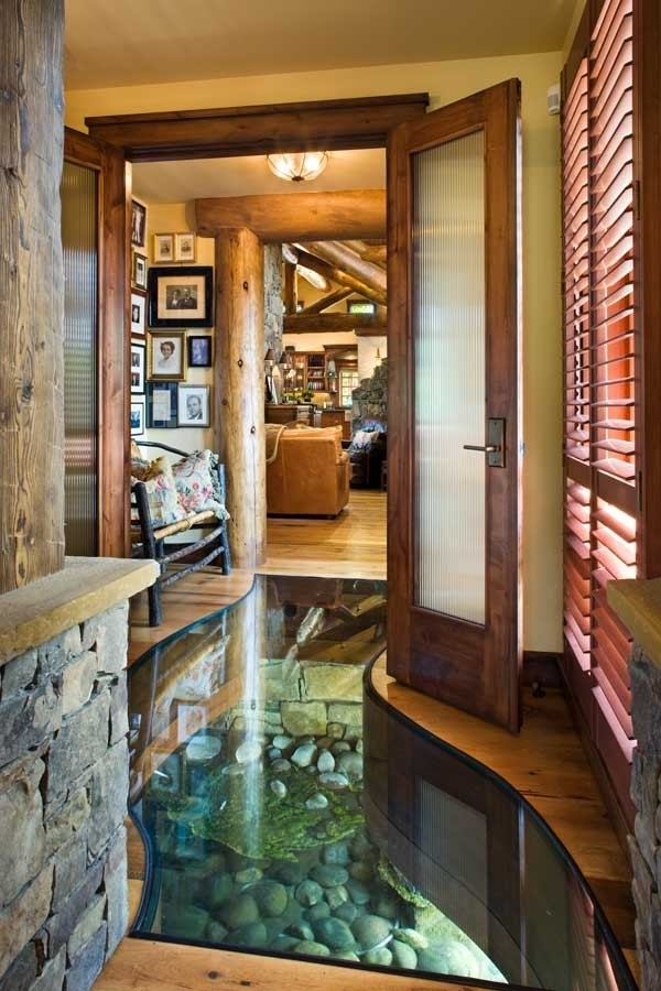 a creek that runs to your hallway