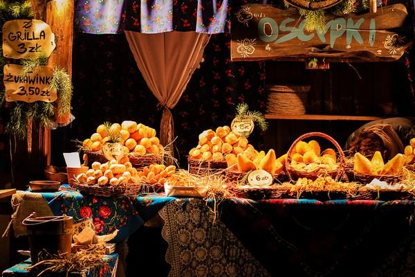 Krakow Christmas stall