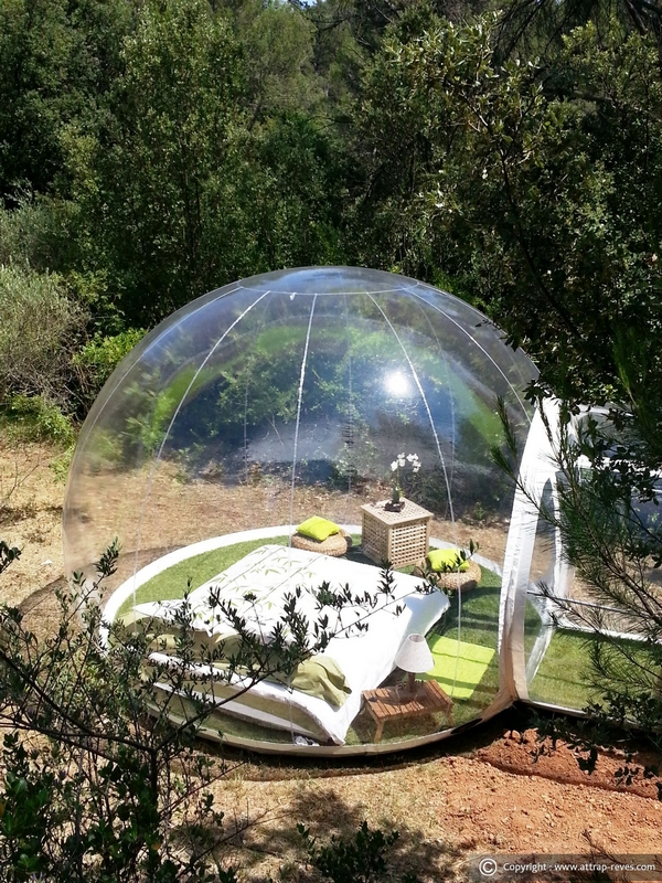 bubble accomodation