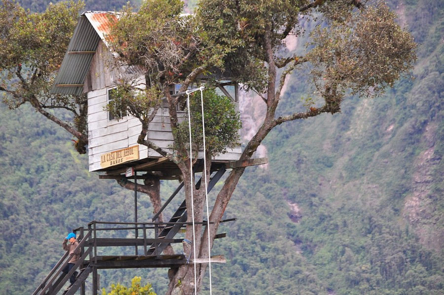 treehouse swing ecuador