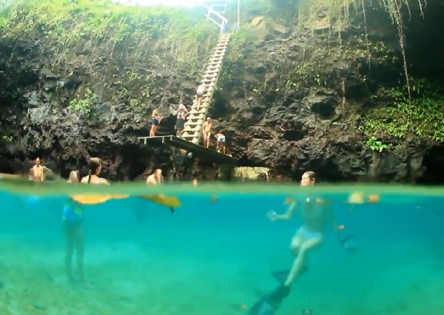Samoa Trench swimming