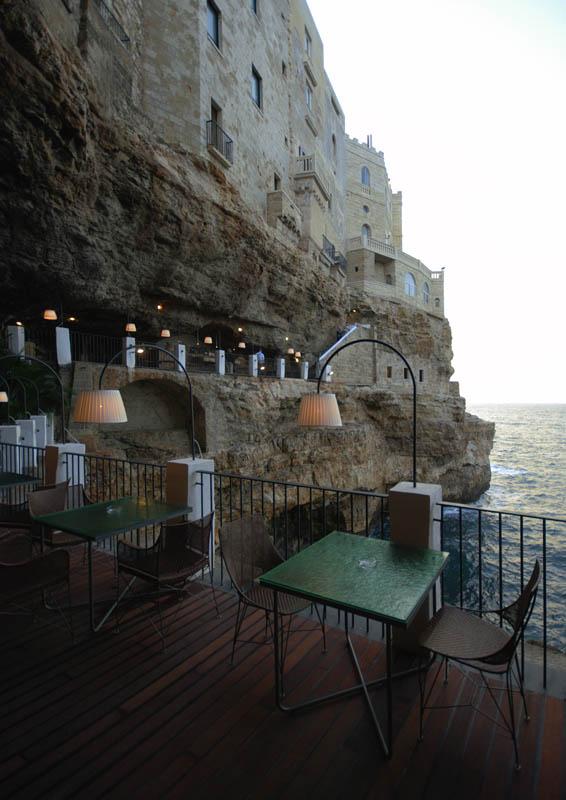 exterior restaurant inside cave