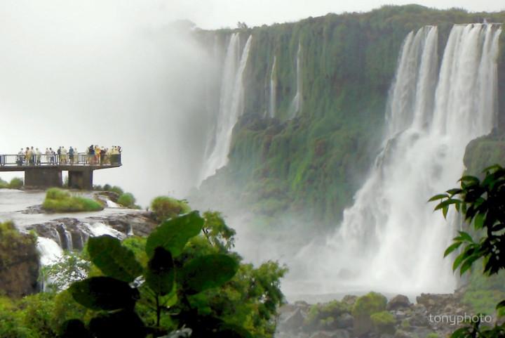 suspended platform at Iguazu Falls Argentina
