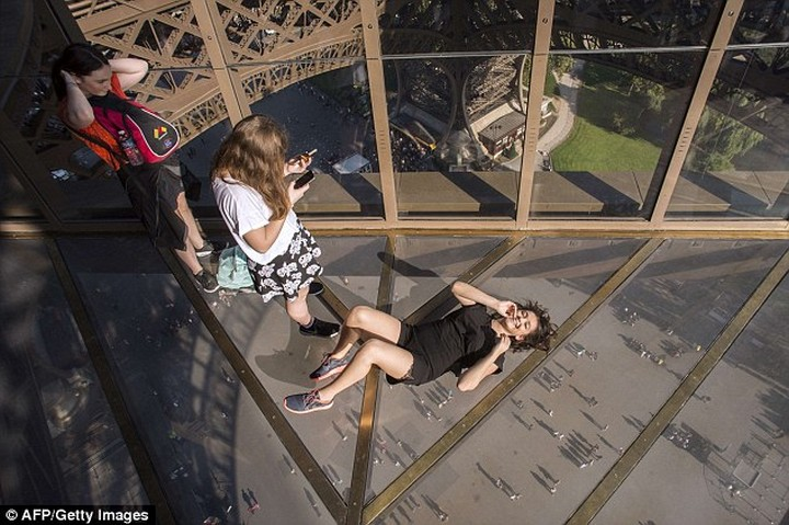 Eiffel Tower glass floor new