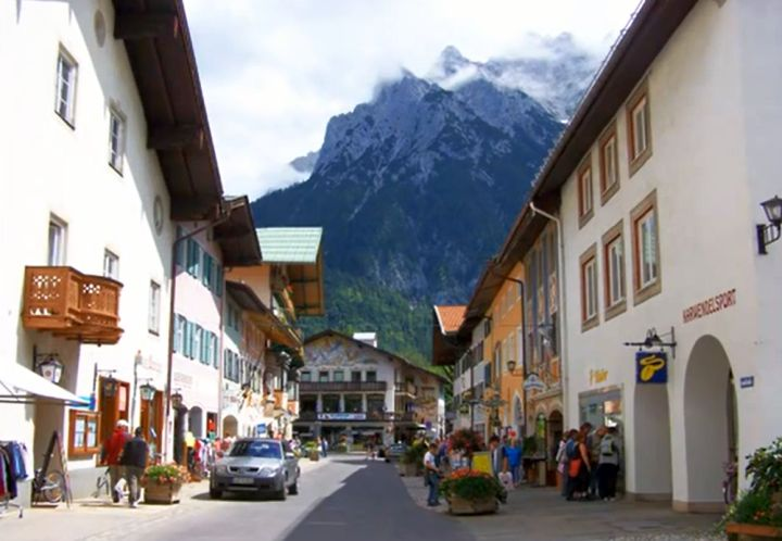 Mittenwald, Germany town center