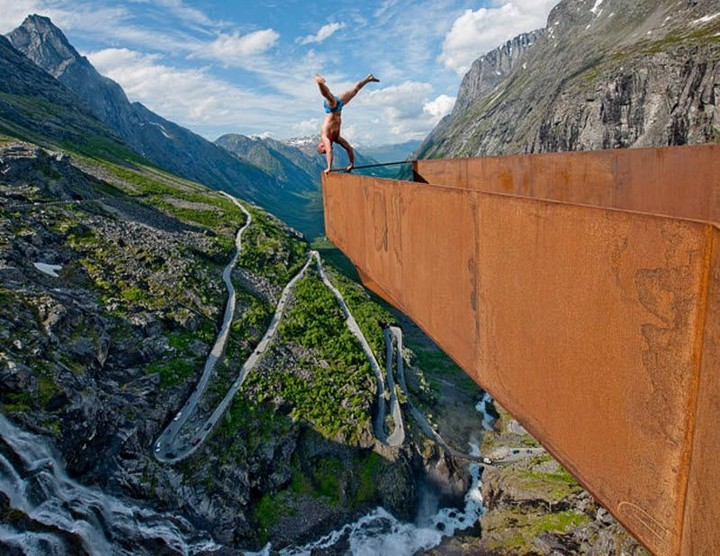 Norway from a Vantage Point Trollstigen Skywalk
