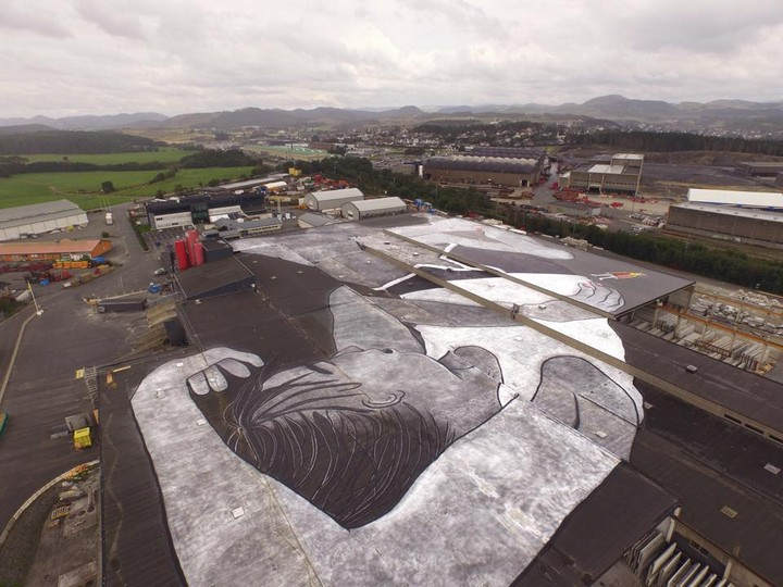 lilith and olaf, world largest mural, norway (2)