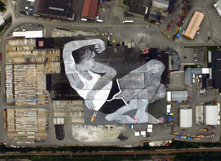 lilith and olaf, world largest mural, norway (7)