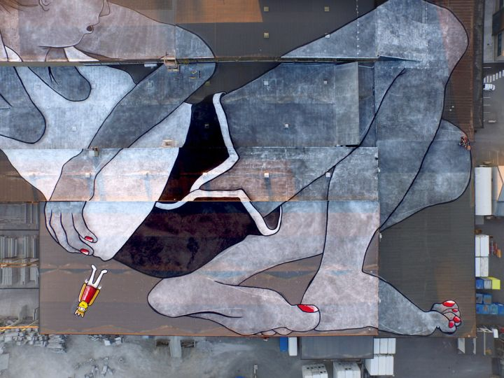 world's largest mural, lilith and olaf
