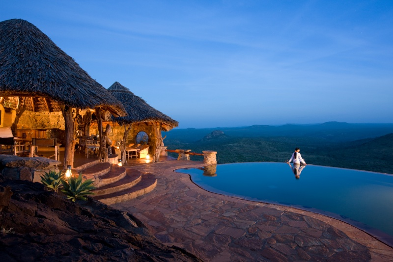 Donyo Lodge, Africa swimming pool