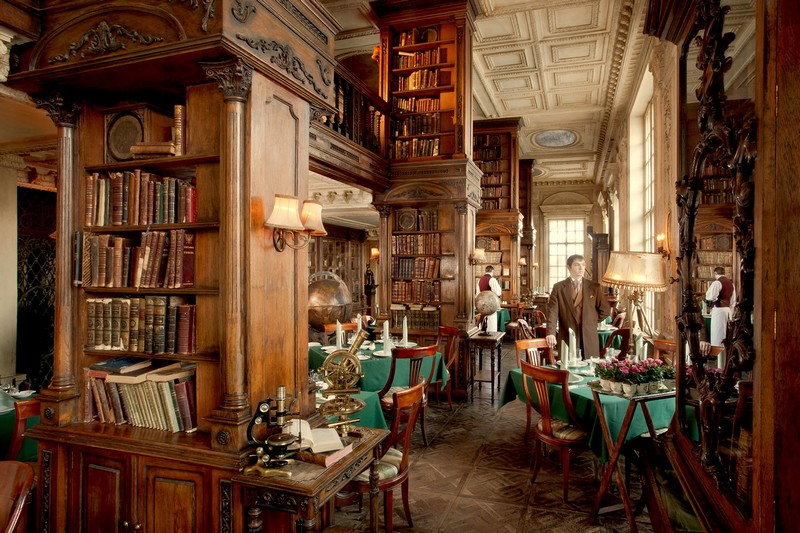 library restaurant, cafe Pushkin (1)