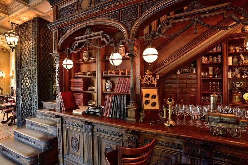 library restaurant, cafe Pushkin (4)