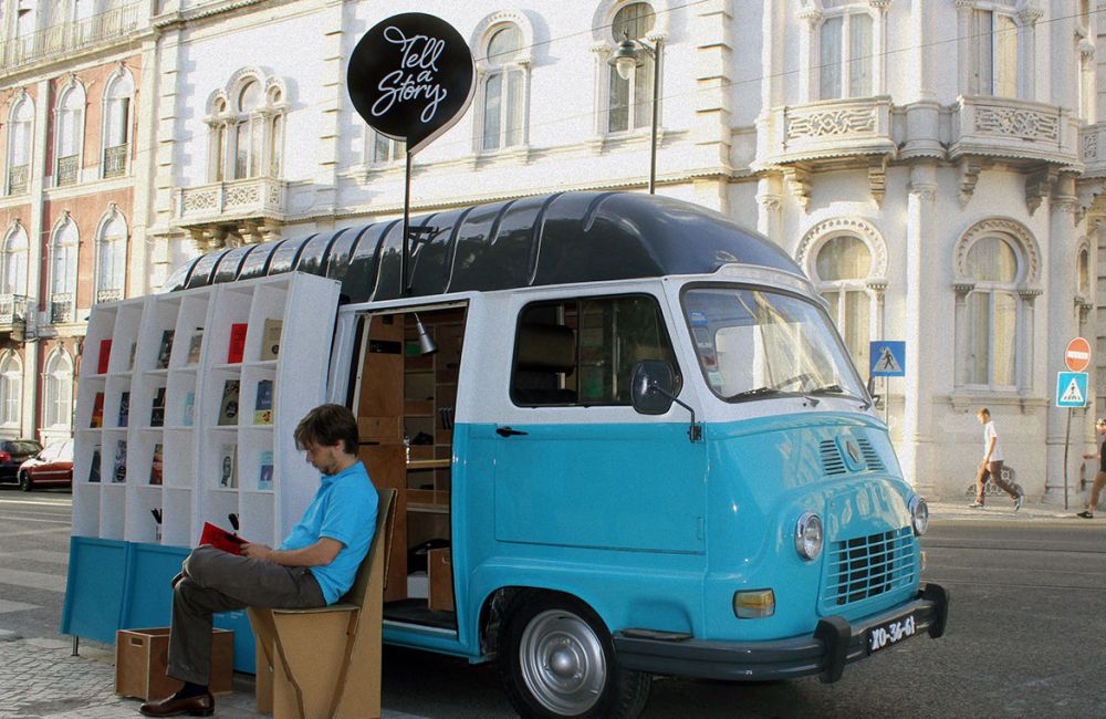 bookshop van Tell a story Lisbon