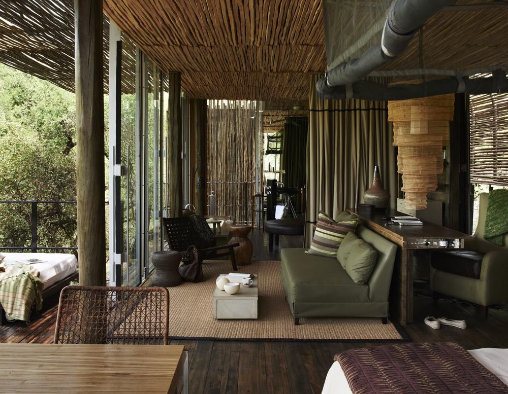 Singita Sweni Lodge, Kruger, South Africa. Agency HKLM. Art Director: Paul Henriques. Stylist: Georgina Pennington. Photographer: Mark Williams. 21/11/11