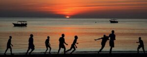 Tanzania beach sunset