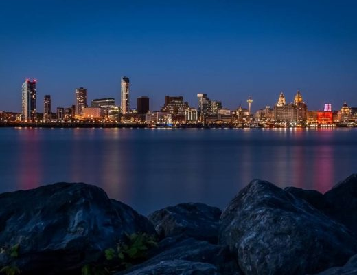 Liverpool skyline night