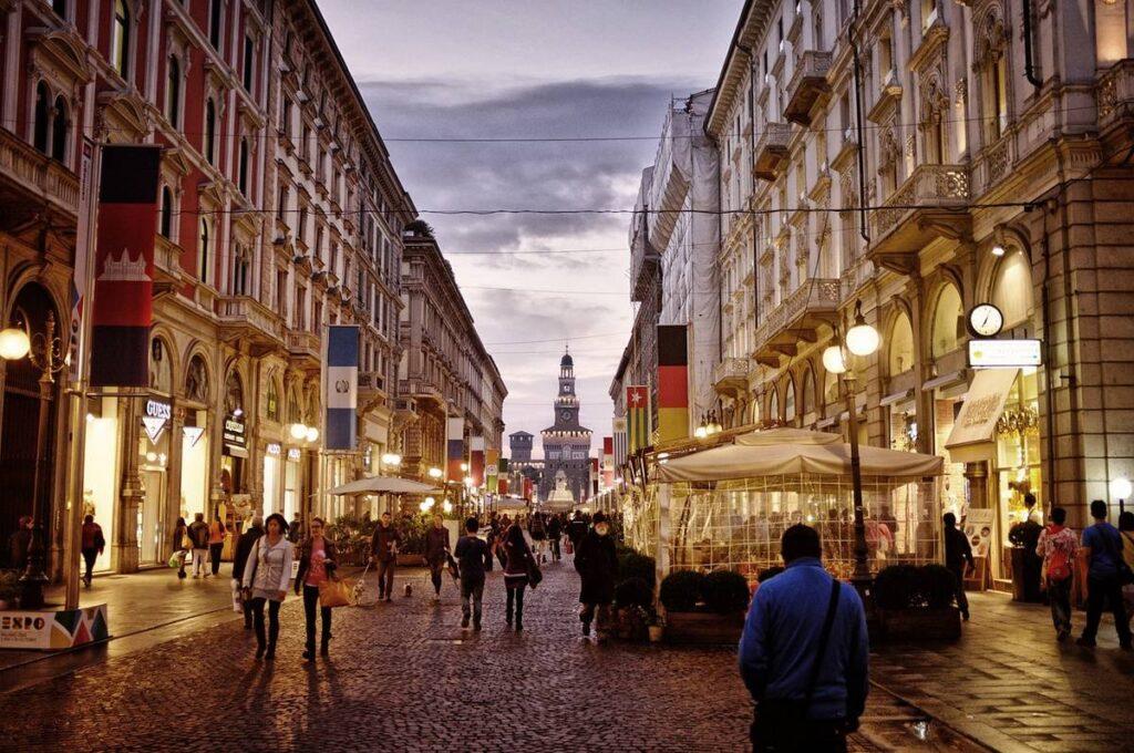 Milan city center