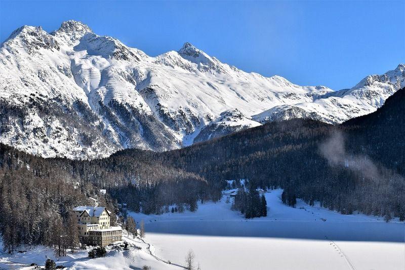 St Moritz winter ski