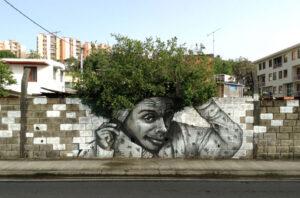 nature meets street art