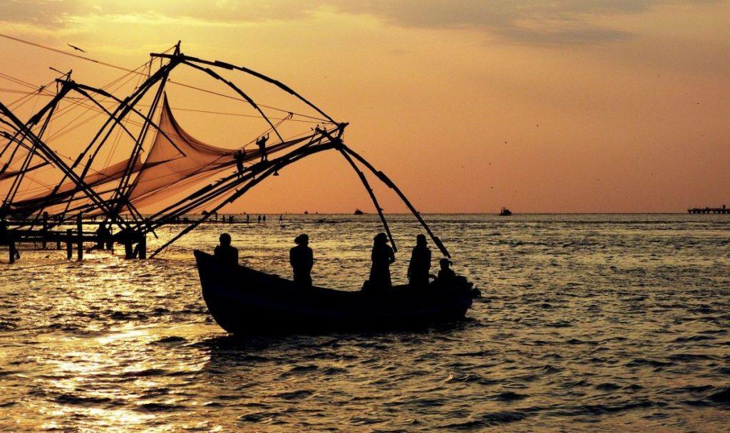 sunset in Kocji, India