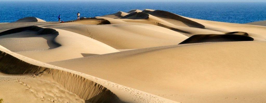Maspalomas sand dunes beach