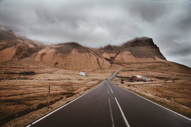 driving through faroe islands