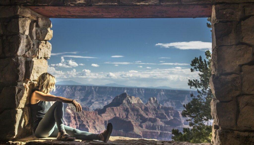 Grand Canyon through window
